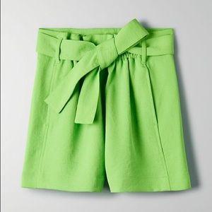 "Wilfred Neon Green ""Gélas"" Shorts"